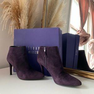 Stuart Weitzman Purple Ankle Boots